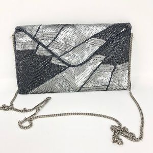 Urban Outfitters   Beaded Sequin Clutch Purse